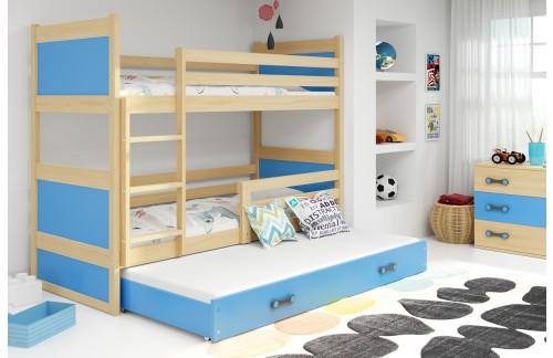 Krevet na kat RICO s dodatnim ležajem 90x200 (različite boje) + GRATIS ležište