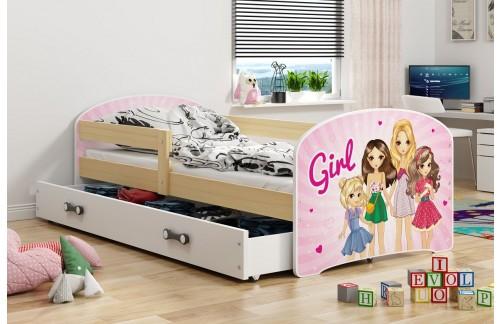 Krevet LUKI s ladicom-Bor-Girls