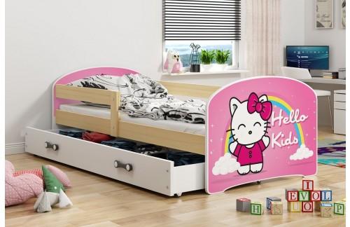 Krevet LUKI s ladicom-Bor-Hello Kids