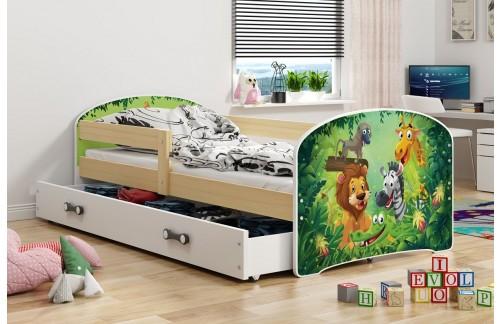 Krevet LUKI s ladicom-Bor-Jungle