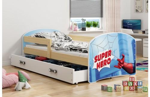 Krevet LUKI s ladicom-Bor-Hero