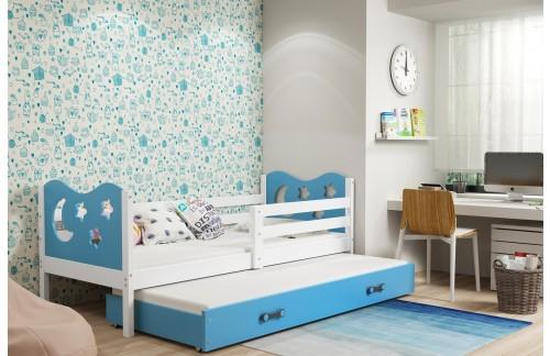 Krevet MIKO s ladicom s dodatnim ležajem 90x190(različite boje) + GRATIS ležište