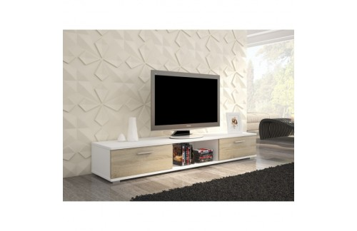 TV regal SELLA -Bijela/Sonoma