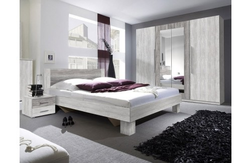 Spavaća soba ANNA, MALI SET (svetel siv bor-temen siv bor)