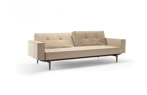 Kauč SPLITBACK SOFA BED s rukonaslonima i tamno stileto drvenim nogicama