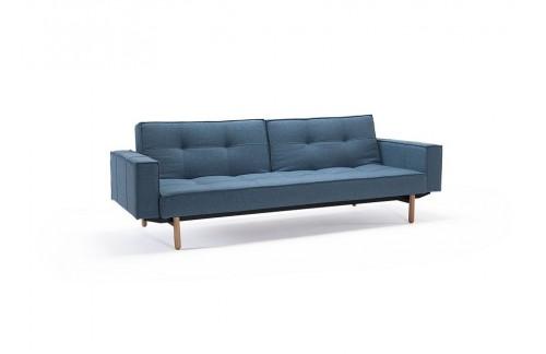 Kauč SPLITBACK SOFA BED s rukonaslonima i s svjetlo drvenim nogicama