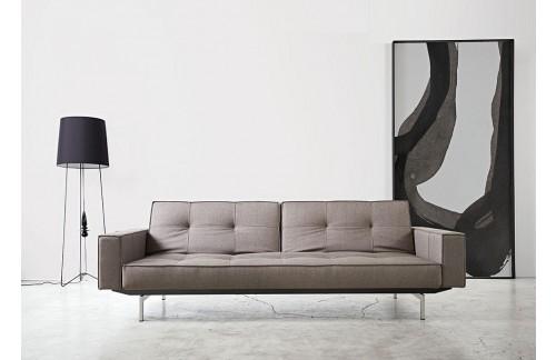 Kauč SPLITBACK SOFA BED s rukonaslonima i s kromiranim nogicama