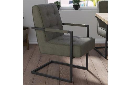 Blagovaonska stolica MIDAS od mikrofibre-Zelena