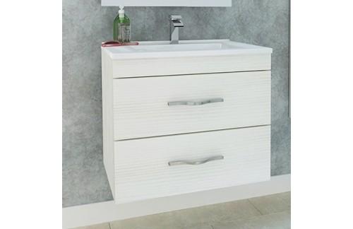 Ormarić s umivaonikom CORALLO 60 cm - bijeli hrast