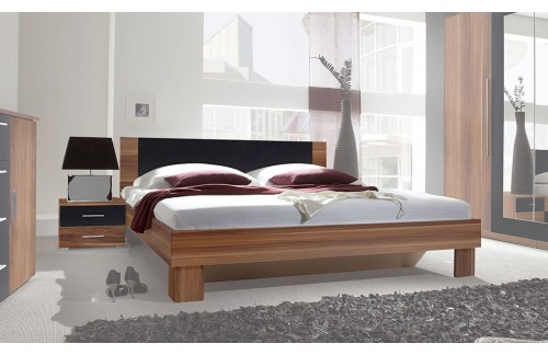 Krevet ANNA s noćnim ormarićem (orah)