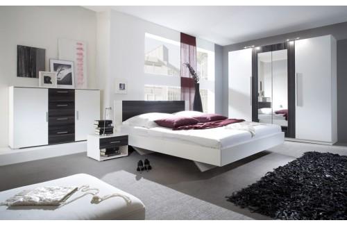 Spavaća soba ANNA, veliki komplet (crni orah-bijela)