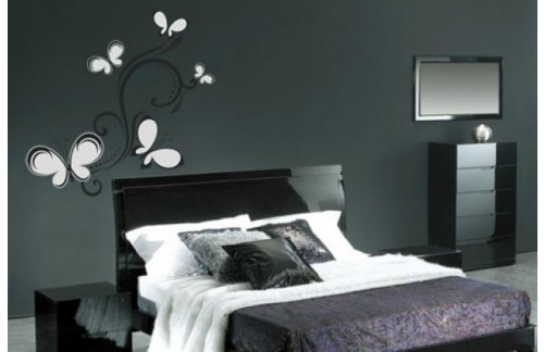 Zidna naljepnica WALLTATTOO 140 70x50 (crno srebrna)