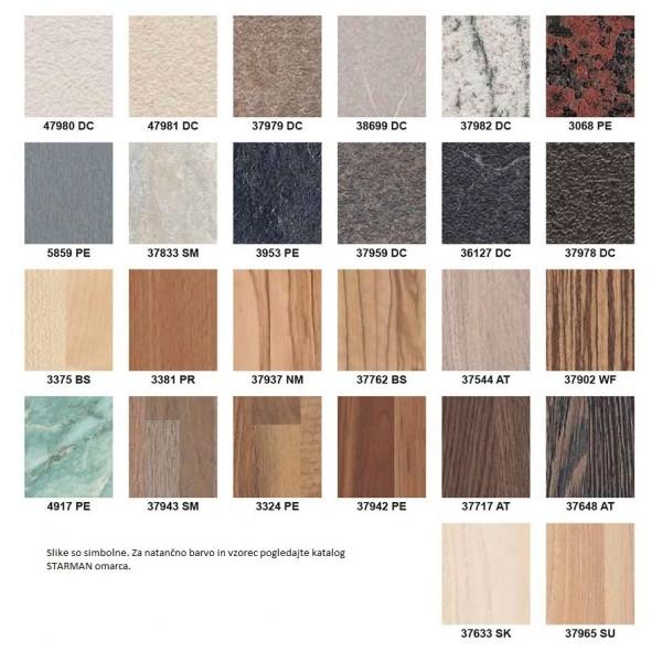 Metalni krevet AMIDA G4 - Boje drva