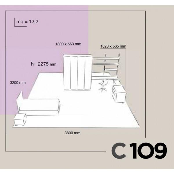 Dječja soba Colombini Volo C109 - skica