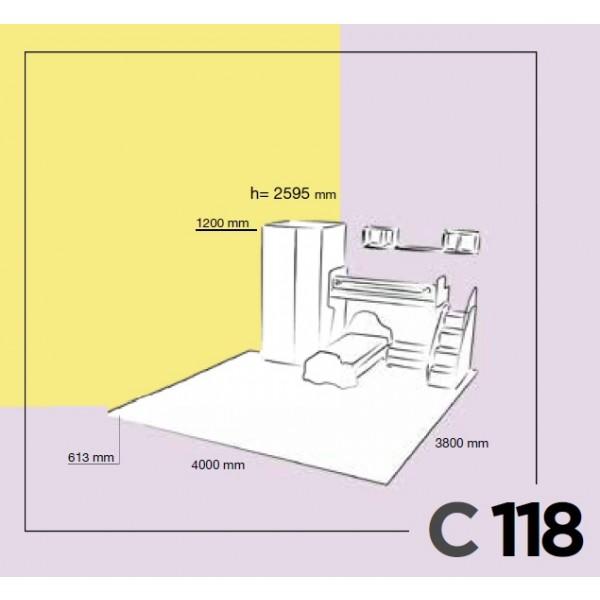 Dječja soba Colombini Volo C118- skica