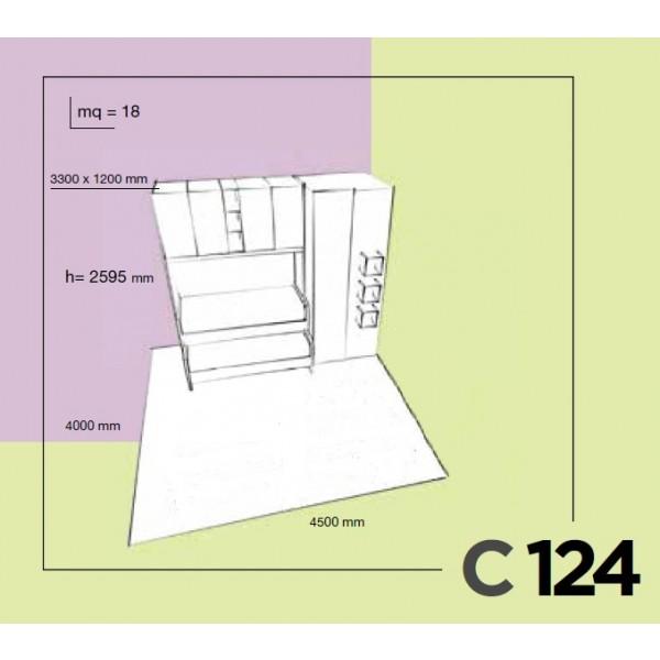 Dječja soba Colombini Volo C124 - skica