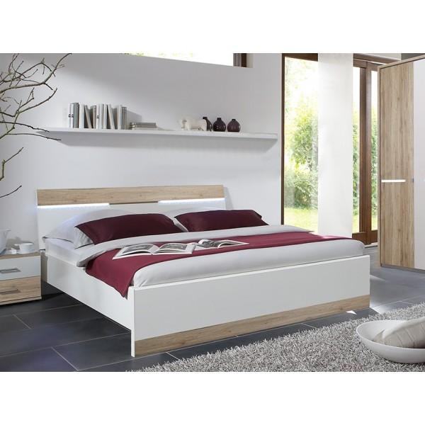 Krevet ELINA - Sonoma hrast / bijela