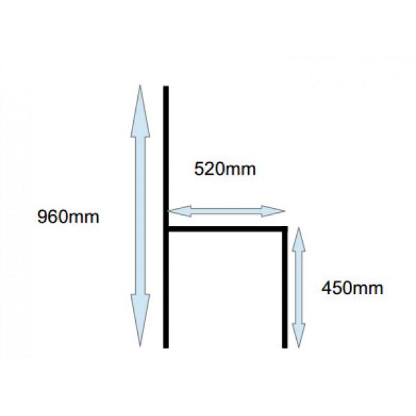 Jedilni stol Eva - dimenzije