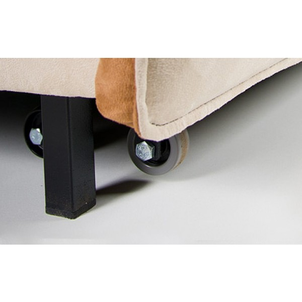Multifunkcijska fotelja Novelty s ležištem - Gumeni kotači
