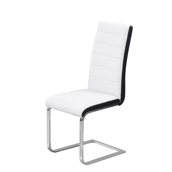 Stolica Tip Top: bijelo sjedište, crni rub