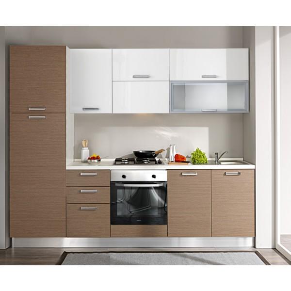Komplet kuhinja s aparatima 1807S - 255 cm