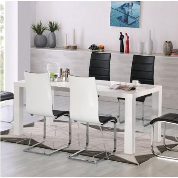 Jedilna miza Metropolitan (več dimenzij, visoki sijaj)