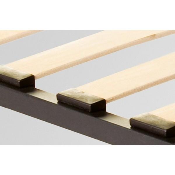 Oblazinjena postelja SPARTA z dvižnim mehanizmom - letvice