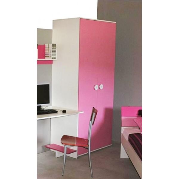 Dječji ormar TEEN COLOURS - roza