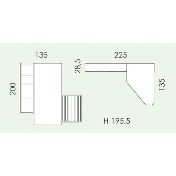 Dječja soba Eresem Volo V126: tloris