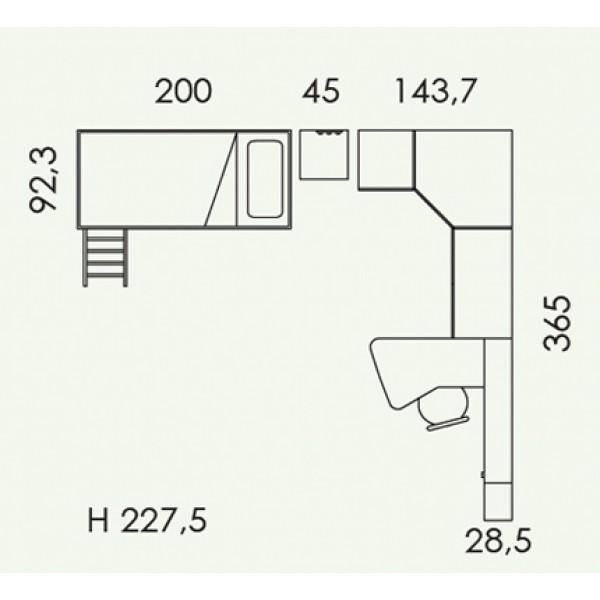 Dječja soba Colombini Volo V312 - tloris