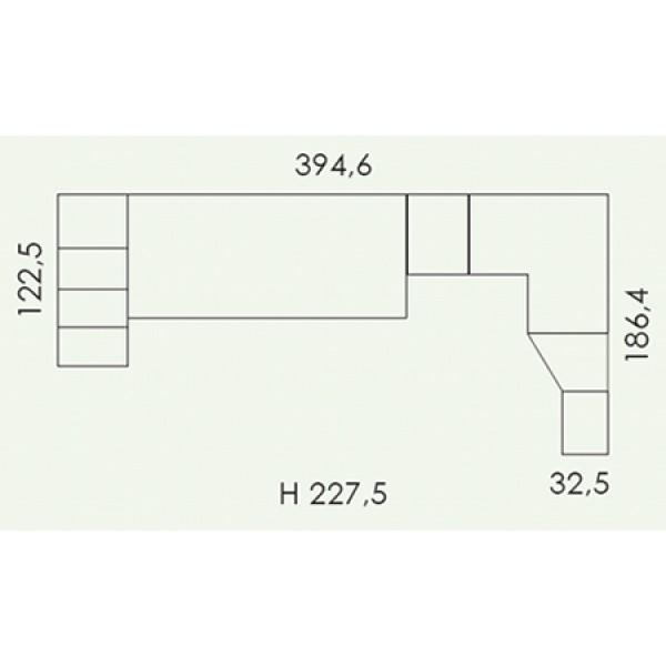 Dječja soba Colombini Volo V316 - tloris