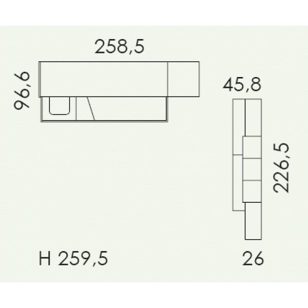 Dječja soba Colombini Volo V329 - tloris