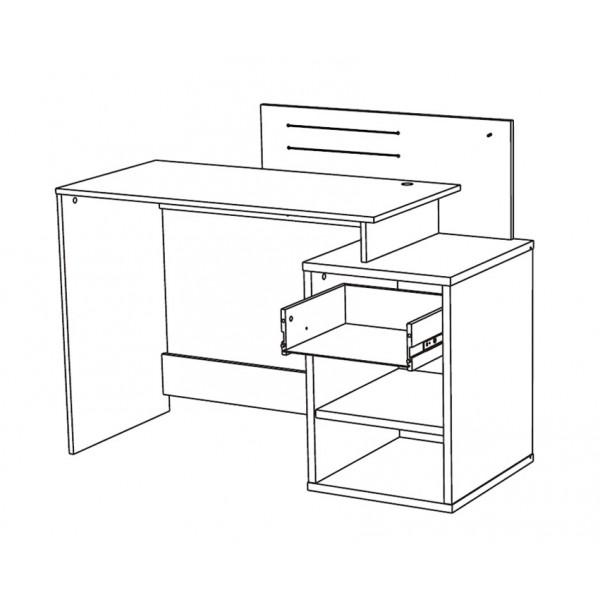 Radni stol Street - skica