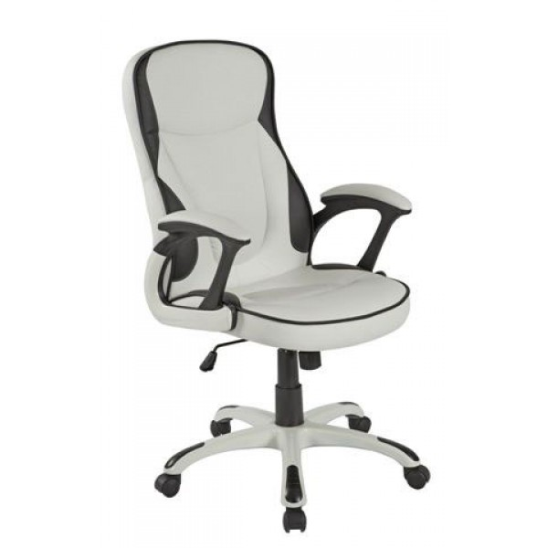 Uredska stolica TOMAS (bijelo-crna)