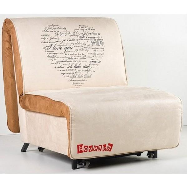 Multifunkcijska fotelja Novelty s ležištem - Motiv: Heart