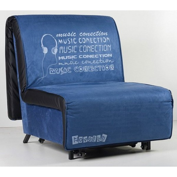 Multifunkcijska fotelja Novelty s ležištem - Motiv: Music