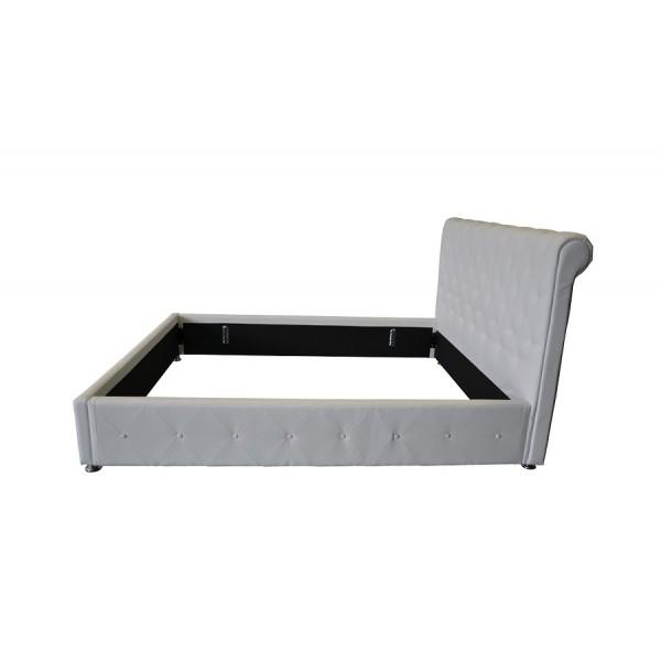 Tapeciran krevet ANJA - bijela