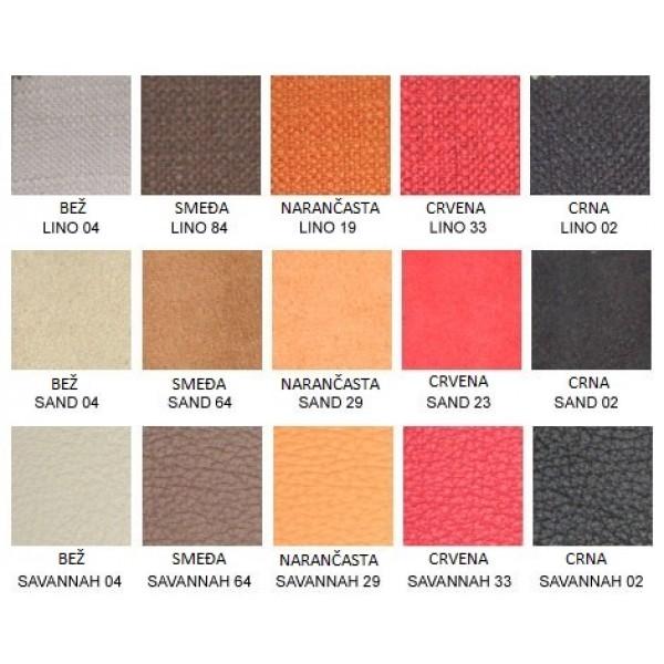 Fotelja CARLO - boje i materijali
