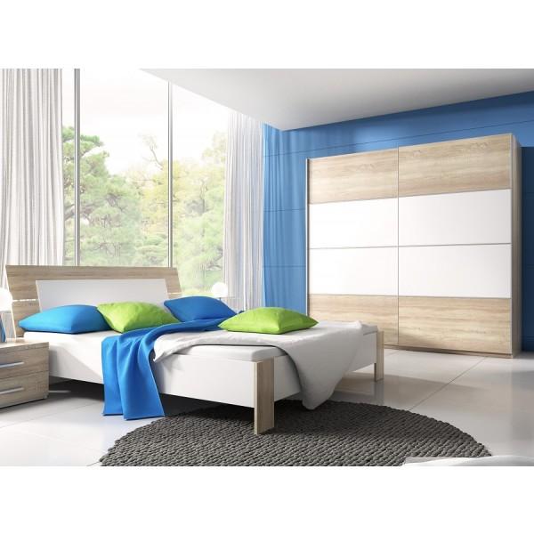 Spavaća soba Emma (hrast, bijela) - mali set