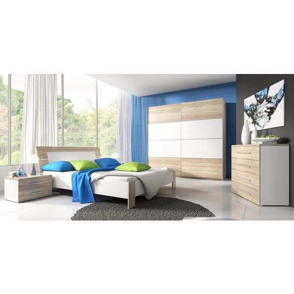 Spavaća soba Emma (hrast, bijela) - veliki set