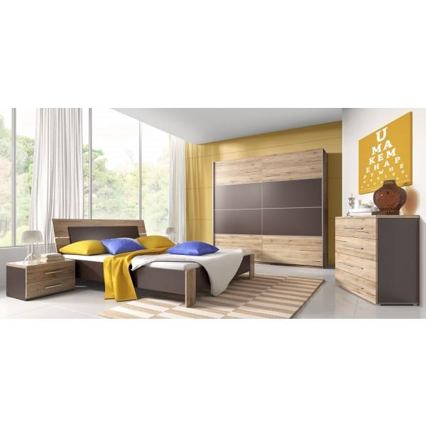 Spavaća soba Emma (hrast, smeđa) - veliki set