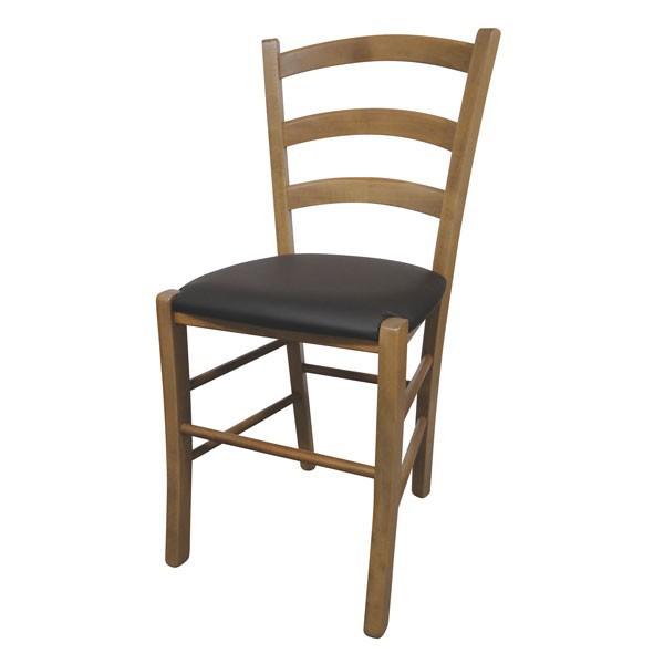 Stolica Paesana: tapecirano sjedište - hrast / smeđa