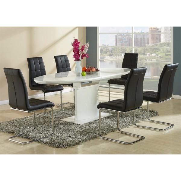 Stolica Kaity crne boje sa stolom Fredorico