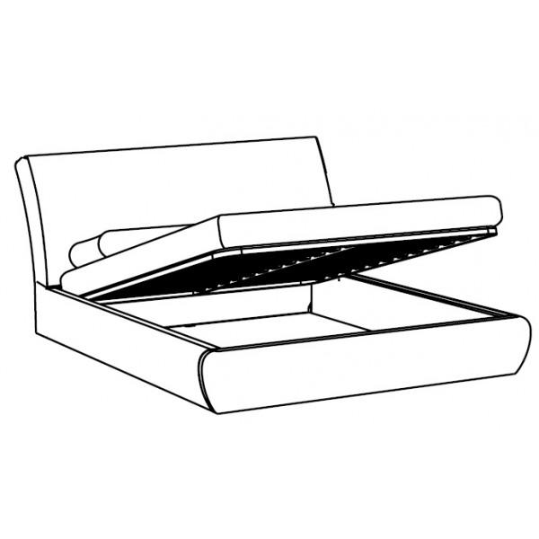 Krevet ELISIR: sanduk za posteljinu