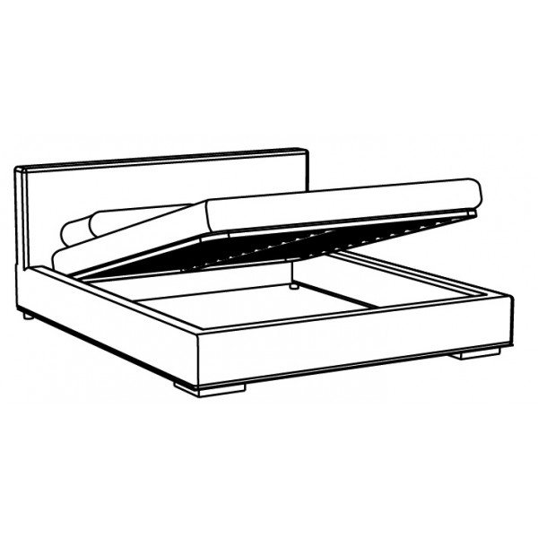 Krevet Relax: sanduk za posteljinu