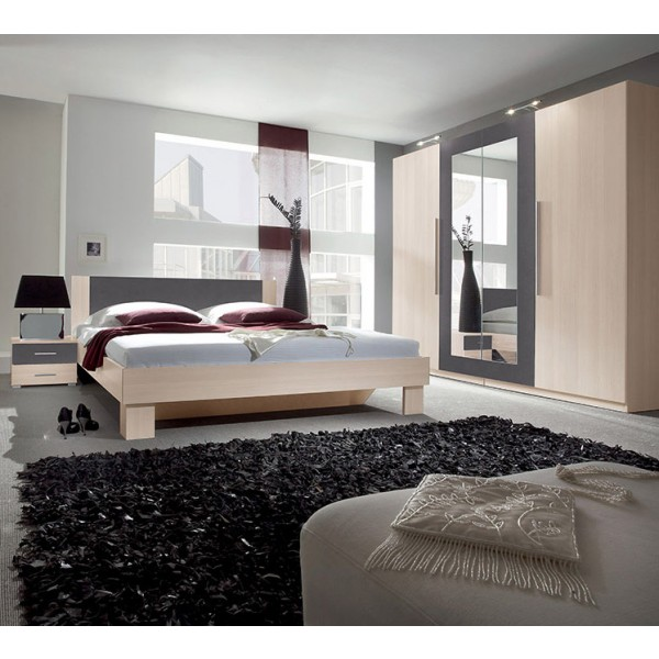Spavaća soba ANNA (antracit-breza)
