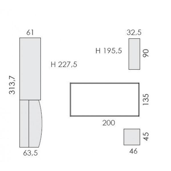 Dječja soba Eresem Volo VP507B - tloris