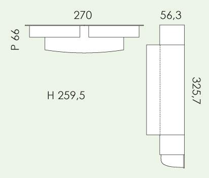 Tloris otroške sobe Eresem Volo V132